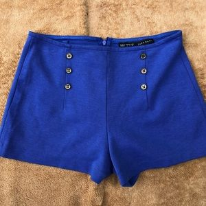 Zara Shorts - Zara Royal Blue high waisted sailor shorts 👩‍✈️🛳